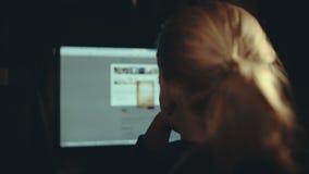 Internet surfing stock video
