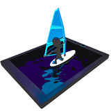 Internet surfing. Surfer surving on tablet phone Royalty Free Stock Photos