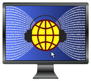 Internet surveillance worldwide Stock Photo