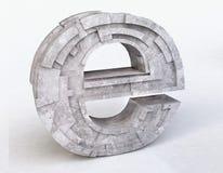 Internet Symbol e in 3D Stock Photo