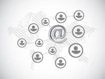 at internet symbol network illustration Stock Image