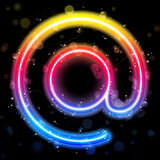 Internet Symbol Rainbow Lights Royalty Free Stock Image