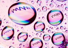 Internet symbols Stock Image