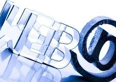 Internet symbols Royalty Free Stock Photo