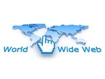 Internet symbols - concept illustration Stock Photography