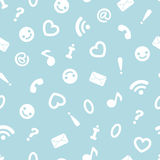 Internet symbols seamless pattern background Stock Photo