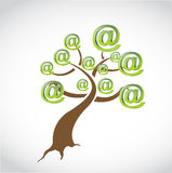 Internet symbols tree illustration design Royalty Free Stock Photo