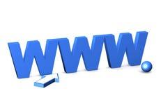 Internet-symbool www. Royalty-vrije Stock Afbeeldingen