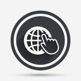 Internet szyldowa ikona symbol sieci szeroki świat Obrazy Royalty Free