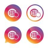 Internet szyldowa ikona symbol sieci szeroki świat Fotografia Royalty Free