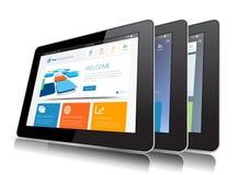 Internet-Tablet Stock Fotografie