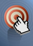 Internet target Stock Image
