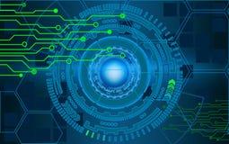 Internet-Technologie- und -geschäftsschnittstellenhintergrundkreise H Stockbilder