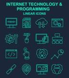 Internet-Technologie und Programmzeile Satz Stockbild