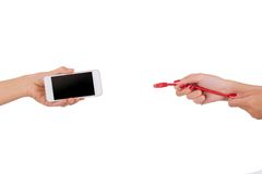 Internet-technologieën en communicatie concept Stock Afbeelding