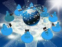 Internet technologies. Concept of global business or social network connection Stock Images