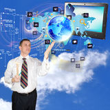 Internet technologies. Creation programming engineering Internet technologies Royalty Free Stock Images