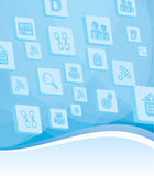 Internet and technology background Royalty Free Stock Photo