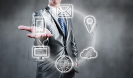 Internet technology concept of global business or social network Royalty Free Stock Photo