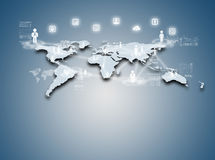 Internet technology concept of global business or social network Stock Photography