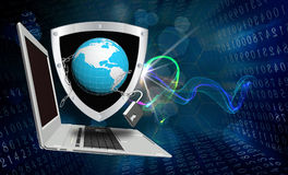 Internet technology.Globalization Royalty Free Stock Photo