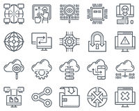 Internet and technology icon set Royalty Free Stock Photography
