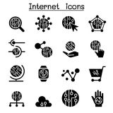 Internet & Technology icons. Internet Royalty Free Stock Photography