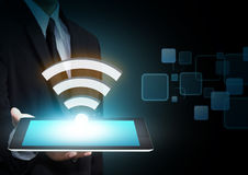 Internet technology and networking concept Stock Images