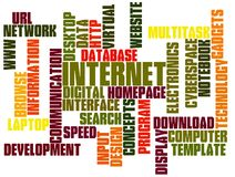 Internet Technology Tag Cloud Stock Image