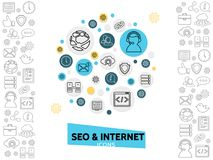 Internet Technology Template Royalty Free Stock Photo