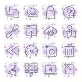 Internet and IT internet technology . Universal icons for web, programs, apps and other. Editable Stroke. stock illustration