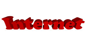 Internet in tekst Stock Foto