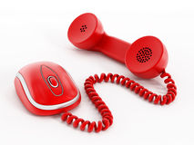 Internet-telefoon Royalty-vrije Stock Foto's