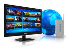 Internet television concept Royalty Free Stock Image