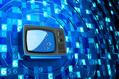 Internet television, telecommunication, broadcasting media and computer technology concept Stock Photo