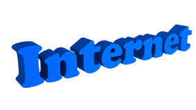 Internet in text Stock Photo