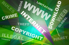 Internet texts copyright conception Stock Image