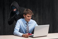 Internet theft concept Royalty Free Stock Image