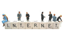 The internet is there for everyone. Internet is there for young and old stock images