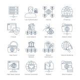 Internet Thin Line Icons Royalty Free Stock Photo