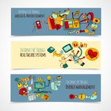 Internet Of Things Banners Stock Photography