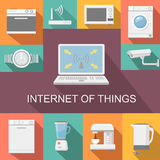 Internet of things computer remote control flat Royalty Free Stock Image