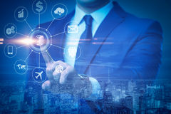 The internet of things concept with businessman Royalty Free Stock Photography