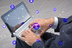 The internet of things concept with businessman Royalty Free Stock Photo