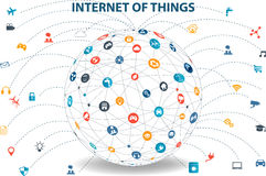 Internet of things concept and Cloud computing technology Stock Photo