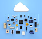 Internet of Things concept for consumer products. 3D rendering image Royalty Free Stock Photo