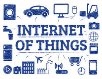Internet of Things concept doodle. Internet of Things Symbols. Chart with keywords and icons Royalty Free Stock Photography