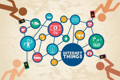 Internet of Things concept. stock illustration