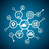 Internet of things concept Royalty Free Stock Image