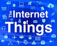Internet of things concept illustration infographic Royalty Free Stock Photo